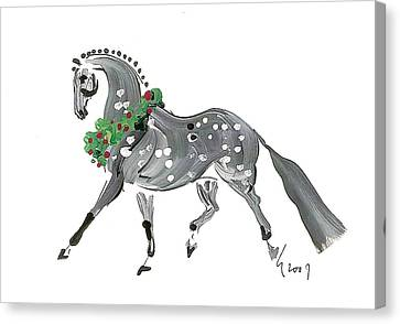 Holiday Gray Canvas Print by Liz Pizzo