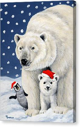 Holiday Greetings Canvas Print by Richard De Wolfe