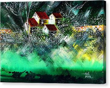 Holiday Homes Canvas Print by Anil Nene