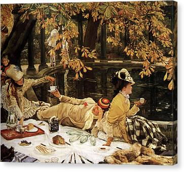 Holiday Canvas Print by James Tissot