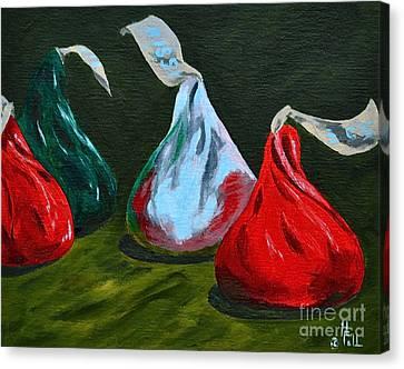 Holiday Kisses Canvas Print