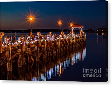 Holiday On The Docks Canvas Print