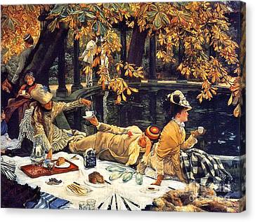 Holiday Picnic 1876 Canvas Print by Padre Art
