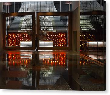 Canvas Print featuring the photograph Holiday Reflections by Ron Dubin