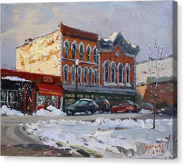 Holiday Shopping In Tonawanda Canvas Print by Ylli Haruni