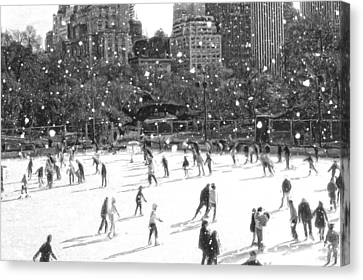 Holiday Skaters Canvas Print