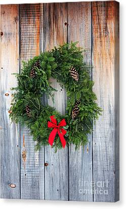 Holiday Wreath Canvas Print