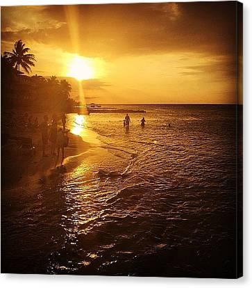 Sunset Canvas Print - #holidayinresortjamaica by Tammy Wetzel