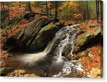 Holland Glen Waterfall In Autumn Canvas Print