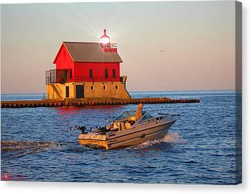 Holland Harbor Lighthouse Canvas Print