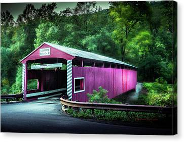 Old Country Roads Canvas Print - Hollingshead Coverd Bridge by Marvin Spates