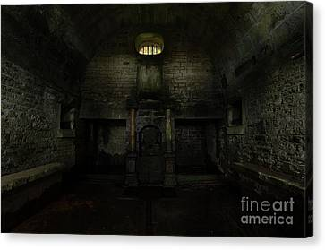 Hollinshead Hall Well House Canvas Print by Steev Stamford