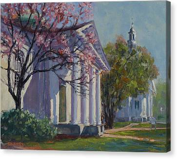 Hollis Social Library In Spring Canvas Print
