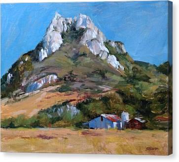 Hollister Peak Canvas Print by Peter Salwen