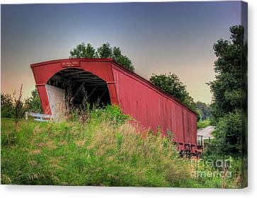 Holliwell Covered Bridge Canvas Print by Thomas Danilovich