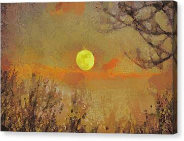 Canvas Print featuring the mixed media Hollow's Eve by Trish Tritz