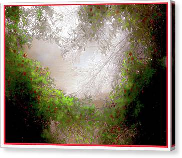 Canvas Print featuring the photograph Holly Heart by Bonnie Willis