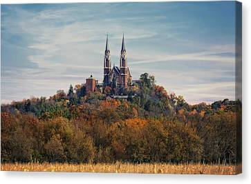 Holly Hill #2 - National Shrine Of Mary - Wisconsin Canvas Print by Jennifer Rondinelli Reilly - Fine Art Photography