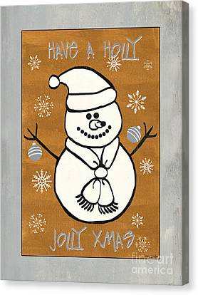 Holly Holly Xmas Canvas Print by Debbie DeWitt