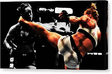Holly Holm And Ronda Rousey 1b Canvas Print