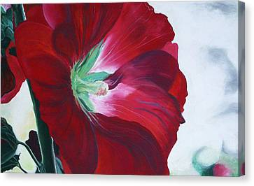 Hollyhock Canvas Print by Jane Autry
