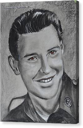 Canvas Print featuring the drawing Duane 'red' Loban by Eric Dee
