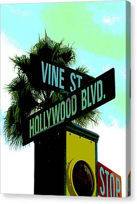 Hollywood And Vine Canvas Print by Audrey Venute