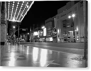 Hollywood Blvd At 3am Canvas Print