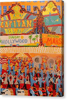 Hollywood Parade Canvas Print by Rodger Ellingson