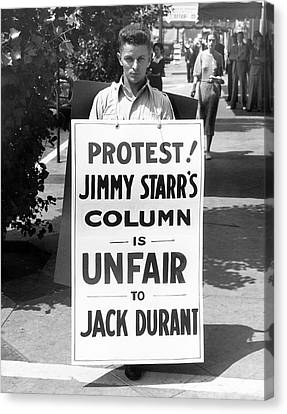 Hollywood Protest Canvas Print by Underwood Archives