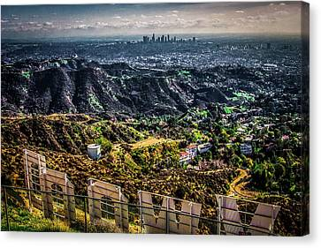 Canvas Print featuring the photograph Behind The Sign by April Reppucci