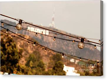 Canvas Print featuring the photograph Hollywood Sign On The Hill 2 by Micah May
