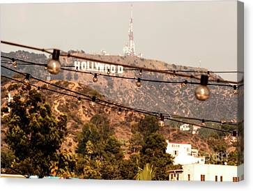 Canvas Print featuring the photograph Hollywood Sign On The Hill 3 by Micah May