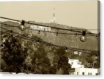 Canvas Print featuring the photograph Hollywood Sign On The Hill 4 by Micah May