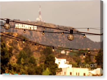 Canvas Print featuring the photograph Hollywood Sign On The Hill 5 by Micah May