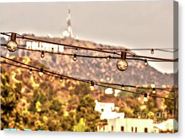 Canvas Print featuring the photograph Hollywood Sign On The Hill 6 by Micah May