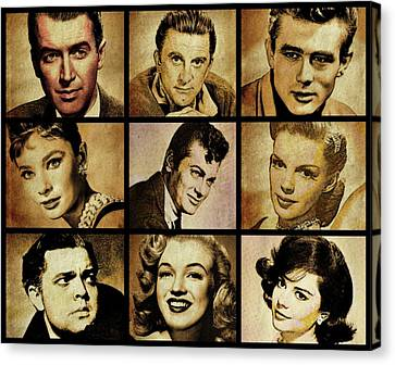 Factory Canvas Print - Hollywood Stars by Esoterica Art Agency