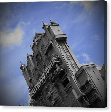 Hollywood Studio's Tower Of Terror Canvas Print by AK Photography