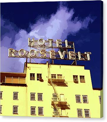 Hollywood's Roosevelt Hotel Canvas Print