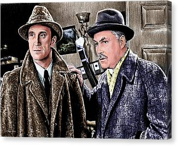 Holmes And Watson Colour 2 Canvas Print by Andrew Read