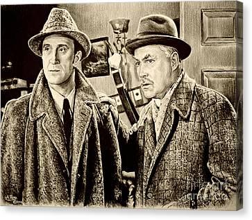 Holmes And Watson Sepia Canvas Print
