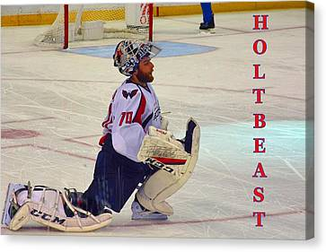 All Star Game Canvas Print - Holtbeast by Lisa Wooten