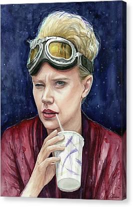 Holtzmann Ghostbusters Portrait Canvas Print by Olga Shvartsur