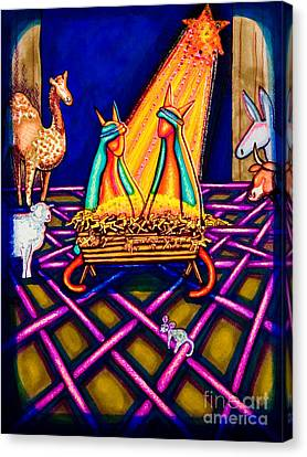 Holy Christmas Kats Canvas Print by Laurie Tietjen