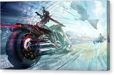 Canvas Print featuring the photograph Holy Crap That Is Fast. by Lawrence Christopher