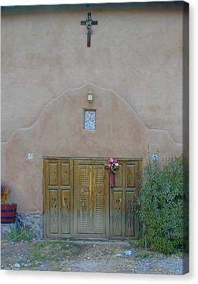 Holy Door Canvas Print by Joseph R Luciano