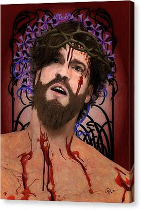 Crucifix Art Canvas Print - Holy Face Of Ecce Homo by Joaquin Abella