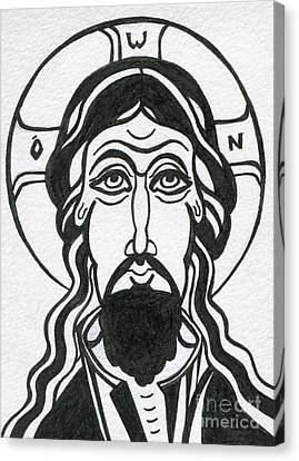 Jesus Christ Icon Canvas Print - Holy Face Of Jesus by Danielle Tayabas