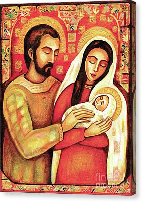 Canvas Print featuring the painting Holy Family by Eva Campbell