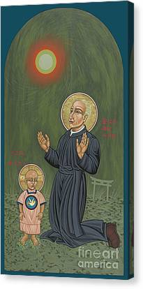 Canvas Print featuring the painting Holy Father Pedro Arrupe, Sj In Hiroshima With The Christ Child 293 by William Hart McNichols